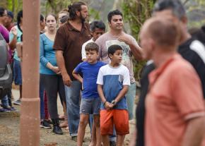 Residents await emergency supplies in Utuado, Puerto Rico