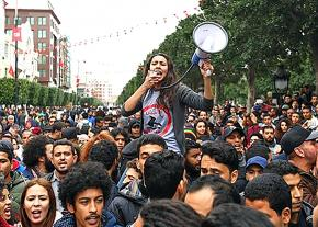 Thousands march against austerity and corruption in the Tunisian capital