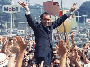 Richard Nixon campaigns in Pennsylvania in July 1968