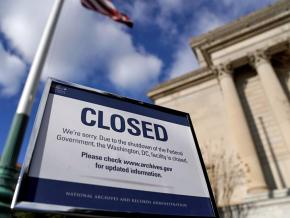Closed during the government shutdown