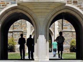 On campus at Duke University