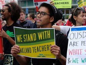 Solidarity with the striking teachers in Oakland, California